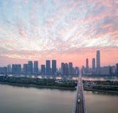 Changsha no nascer do sol fotografia de stock
