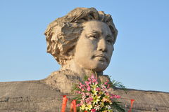 Changsha Orange Isle Youth Mao Zedong statue Royalty Free Stock Photos