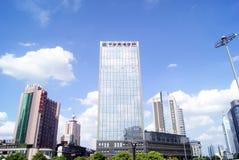 Changsha porslin: stadsbyggnadslandskap Fotografering för Bildbyråer