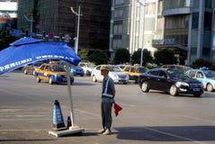 Changsha porslin: stadstrafik och byggnader Royaltyfri Fotografi
