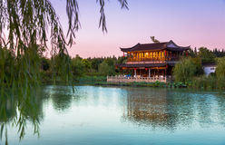 Changshu Shang Lake Park sikter Arkivbild