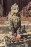 Changu纳拉扬-加德满都谷地的古庙 免版税库存照片