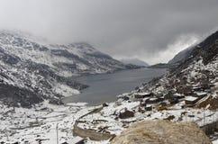 Changu lake in winter Royalty Free Stock Image