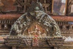 Changu Narayan - den äldsta templet av Kathmanduet Valley Royaltyfria Foton