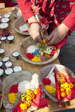 Changu Narayan Temple Prayer Offerings, Nepal Royalty Free Stock Photo
