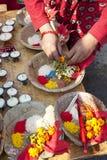 Changu Narayan Temple Prayer Offerings, Nepal Royalty Free Stock Photo