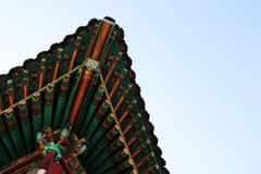 Changwon Temple. Detail of a roof of a temple in Changwon, South Korea Royalty Free Stock Images