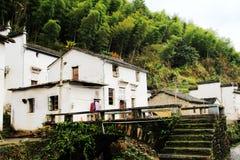 Changxi by, den forntida byn för Huizhou stil i Kina royaltyfria foton