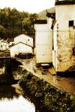 Changxi by, den forntida byn för Huizhou stil i Kina royaltyfri foto
