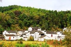 Changxi by, den forntida byn för Huizhou stil i Kina Arkivfoton