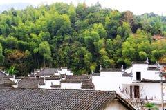 Changxi by, den forntida byn för Huizhou stil i Kina arkivbild