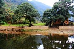 Changxi by, den forntida byn för Huizhou stil i Kina Royaltyfria Bilder