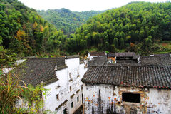 Changxidorp, het Huizhou-stijl oude dorp in China Royalty-vrije Stock Foto's