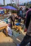 Changxing shui kou społeczności miejskiej rolników rynek Zdjęcia Royalty Free