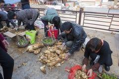 Changxing shui kou społeczności miejskiej rolników rynek Fotografia Stock