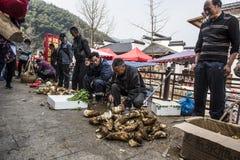 Changxing shui kou społeczności miejskiej rolników rynek Fotografia Royalty Free