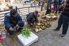 Changxing shui kou społeczności miejskiej rolników rynek Obraz Royalty Free