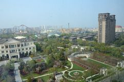 Changzhou in China, algemene cityscape stock fotografie