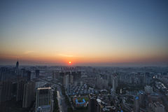 Changzhou City sunrise summer Royalty Free Stock Photography