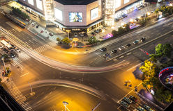 Changzhou intersection summer night Stock Photography
