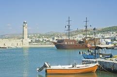 Chania,克利特,希腊威尼斯式港口  库存图片