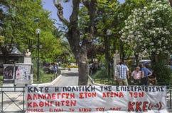 Chania - 21 Μαΐου - τετράγωνο Chania, Ð ¡ rete, 2013 Στοκ Φωτογραφίες