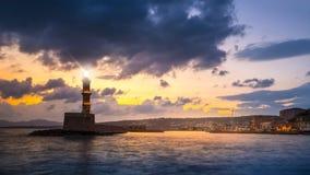 Chania, νησί της Κρήτης, Ελλάδα Στοκ εικόνα με δικαίωμα ελεύθερης χρήσης