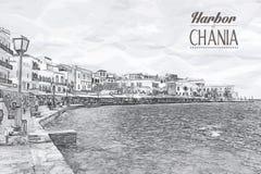 Chania на острове Крита, Греции Стоковая Фотография