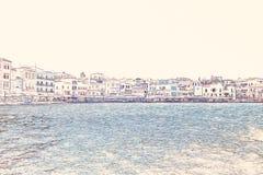 Chania на острове Крита, Греции Стоковое Изображение RF