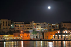 Chania city night shot Stock Photos