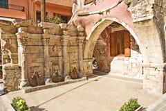 chania Crete fontanna Zdjęcie Royalty Free