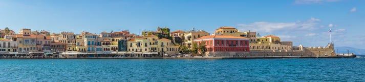 CHANIA CRETE GRECJA panorama Obrazy Royalty Free