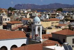 chania crete greece Arkivfoton