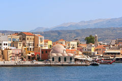 chania Crete Greece quayside Obraz Stock