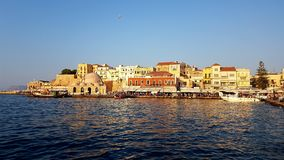 Chania, Crete, Greece. Chania is the second largest city of Crete and the capital of the Chania regional unit. The port of chania, or Hania Royalty Free Stock Image