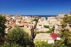 Chania, Crete. View from the fortress at Chania, Crete Royalty Free Stock Photo