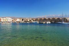 Chania, Crete. View of the old port of Chania, Crete Stock Photos