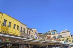 Chania - 21 de mayo - restorants y hoteles de la ciudad de Chania en Creta 2013 Fotos de archivo libres de regalías