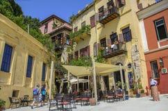 Chania - 21 de mayo - restorants y hoteles de la ciudad de Chania en Creta adentro Imagenes de archivo