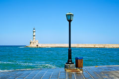 Chania embankment Stock Image