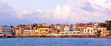 Chania embankment Royalty Free Stock Photography