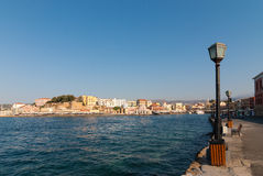 Chania embankment. Royalty Free Stock Images