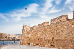 Chania Fortress and harbour stock photo