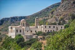 Chania Grecja, Sierpień, -, 2017: Gonia Odigitria monaster w Chania regionie na Crete wyspie, Grecja fotografia stock