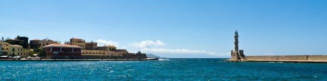 Chania hamn, Kreta, Grekland Royaltyfri Fotografi