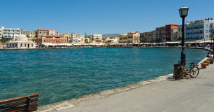 Chania hamn, Kreta, Grekland Royaltyfria Foton
