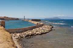 Chania harbor. Crete Royalty Free Stock Photos