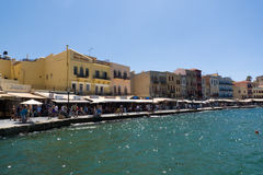 Chania harbour, Crete, Greece Royalty Free Stock Photography