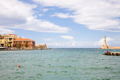 Chania harbor, Crete Royalty Free Stock Photo