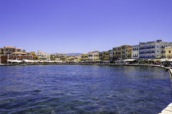 Chania harbor scenic view Royalty Free Stock Photo